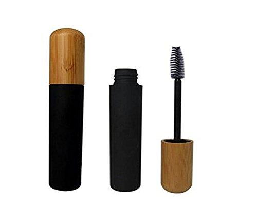 6ML 0,2 oz Vide rempli Cils noirs Conteneur de flacon de bouteille de tube avec bouchon en bambou et environnement pour Mascara Eyelash Huile de croissance