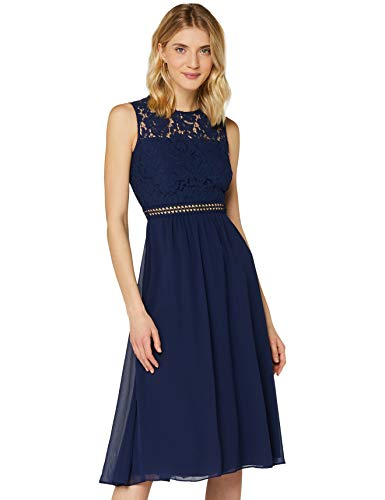 Amazon-Marke: TRUTH & Fable Damen brautkleid, Blau (Blue), 34, Label:XS