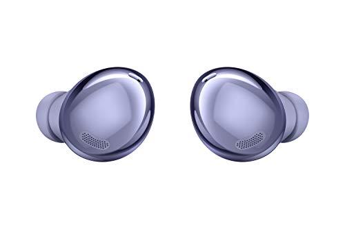 Samsung Galaxy Buds Pro, Kabellose Kopfhörer, Wireless Earbuds, ausdauernder Akku, 3 Mikrofone, Sound by AKG, 2-Wege-Lautsprecher inkl. Araree Clear Cover, Violet (Deutsche Version)[Exkl. bei Amazon]