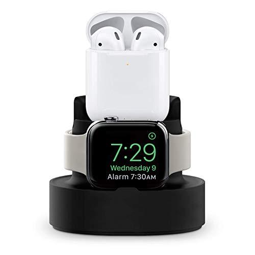 アップルウォッチスタンド,2合1立体式ウォッチスタンド,ヘッドフォンスタンド,Apple Watch、AirPods、iPhoneシリーズ関連製品に適用可能,ブラック