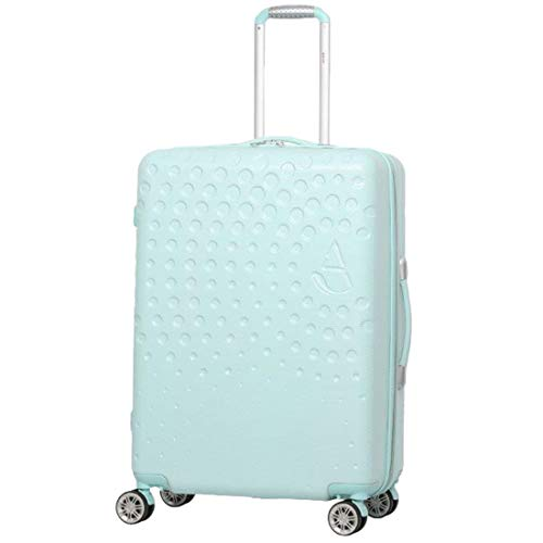 "Aerolite Medium 25"" Lightweight ABS Hard Shell 4 Wheel Hold Check in Luggage Suitcase,(Peppermint Green)"