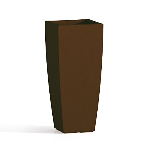 TEKCNOPLAST V0092 vaso, MARRONE, cm 33 x 33 -H 70 cm.