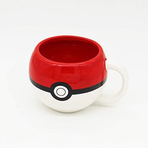 Alexny Taza, Taza de cerámica esférica de Xingqiluo Elf Taza de café de Pokemon Taza de Leche roja