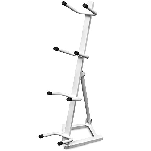 Crown Sporting Goods Medicine Ball Storage Rack: 4-Tier Exercise Ball Storage Tree Stand for Medium Weight Balls
