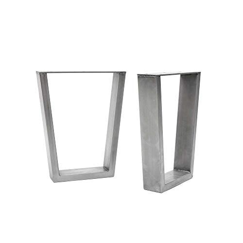 [HLC] 2 x patas industriales de mesa con marco en V: acero acondicionado de superficie, soldadura TIG con tornillos GRATUITOS, guía de construcción y protectores de suelo [Banco, Abrigo limpio]