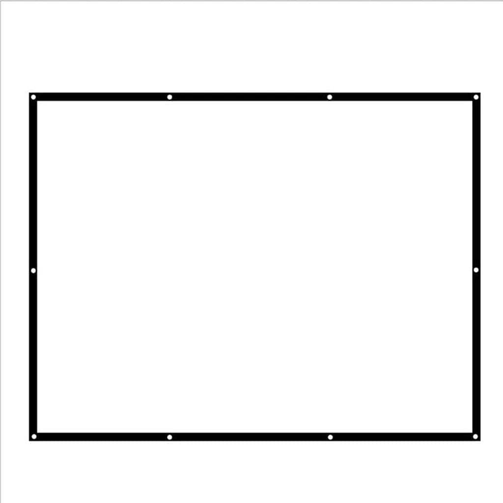 Fabric Projection Screen 100 Inch 16:9 Ratio for Home Cinema HD Manual Projector Screens 2.2x1.24 Meter