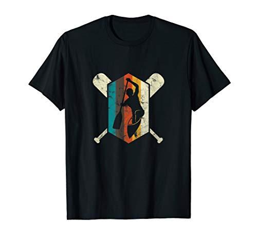 Kanufahren Retro Kanu Paddler Paddeln Kajak Geschenk T-Shirt