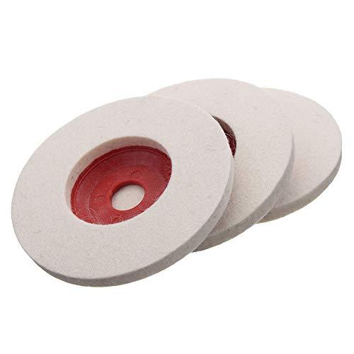 Wchaoen 3 unids 100 mm 4 pulgadas de lana pulido rueda amoladora de ángulo fieltro...