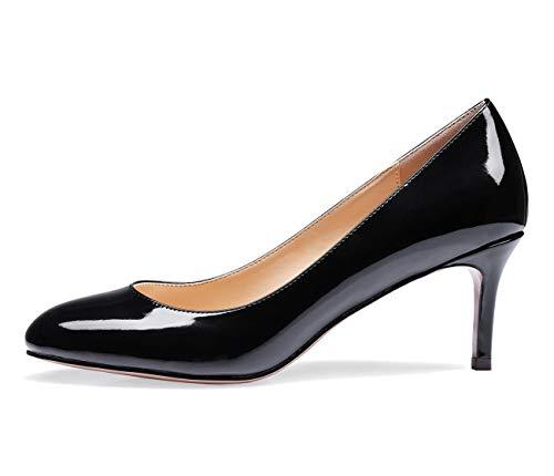 CASTAMERE Mujer Medio Tacón Punta Redondas Tacón de Aguja Zapatos