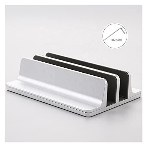 White skin Soporte de computadora portátil Ajustable Vertical Aluminio portátil de Soporte de Soporte de Soporte de Soporte de Soporte para MacBook Pro Air Accesorio Titular del Libro