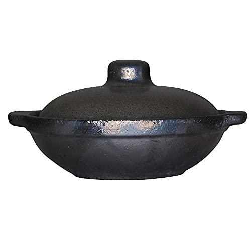 0.5 L Cazuela De Ceramica con Tapa,Negro Cazuelas De Barro Horno Ø 21cmCazuelas Horno Cocina para Cocinar