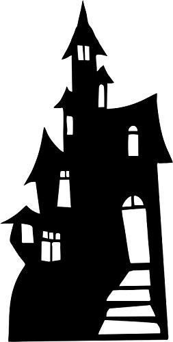 Akachafactory Le géant de la fête Deco Halloween Aufkleber Wandaufkleber Schloss'hante Auto manoir