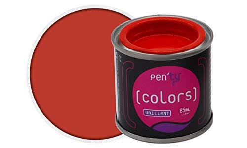 PEN'TY Peinture Fer Bois Couleur, Rouge Vif, 0.08L