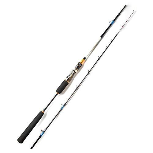 Caña de Pescar La Pesca en mar Jigging Varilla de Reparto 2 sección de Carbono de Giro del Barco de Pesca Rod-Casting Rod_2.1m MH Caña de Pescar telescópica (Color : Spinning Rod, Size : 2.1m MH)