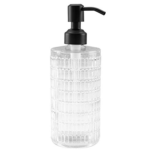 Frap Dispensador de jabón de cristal de acero inoxidable para baño, cocina,...