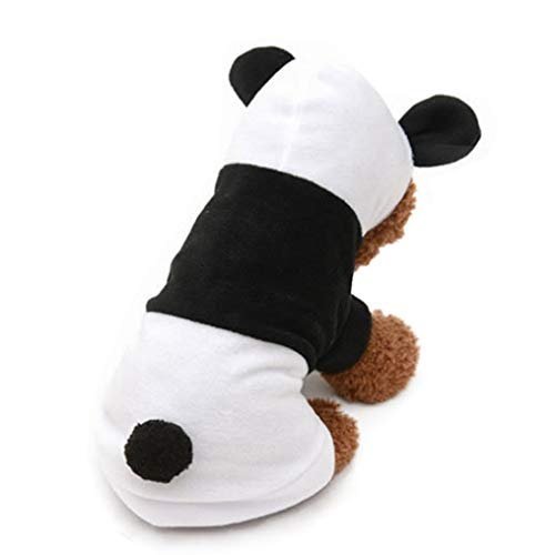 Generic Haustier Kleidung Mäntel Herbst Winter Fleece Panda Form Cartoon niedlichen Kostüm langlebig und verschleißfest Outwear