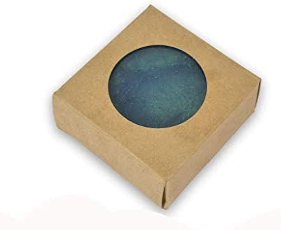 CYP Kraft Square with Round Window Soap Box Homemade Soap Packaging Soap Making Supplies 100 product image