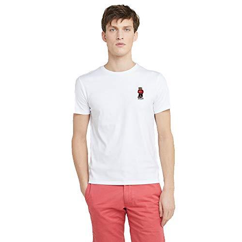 Polo Ralph Lauren Camiseta para Hombre Polo Bear (XXL, Pure White)