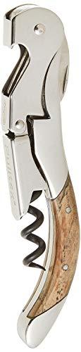 Pulltex Pulltap 's Toledo, Edelstahl, Silber/braun, 18,6x 12x 2,3cm, Silver/Brown, 18.6 x 12 x 2.3 cm