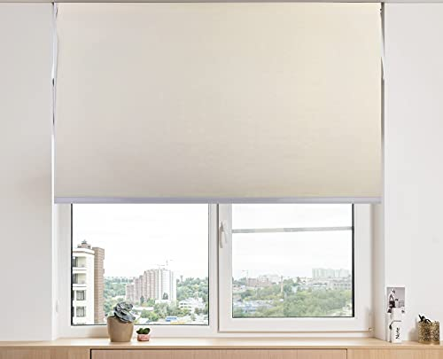 ZAGON-Estor Enrollable 150x180cm-persiana Enrollable-Cortina Plegable Ajustable a la Ventana-Estor para Cocina-habitacion-Sala de Estar-facil colocacion-Color Beige