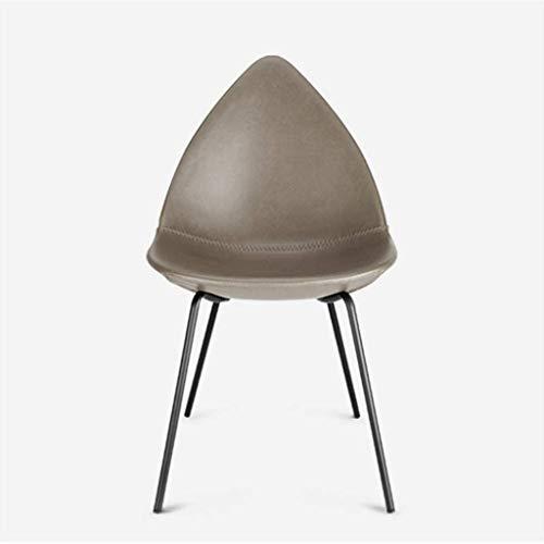YUTRD ZCJUX Sillas de Cuero Amarillo de la Sala, sillas tapizadas nórdica Moderna Sillas de Comedor Habitación (Color : B)