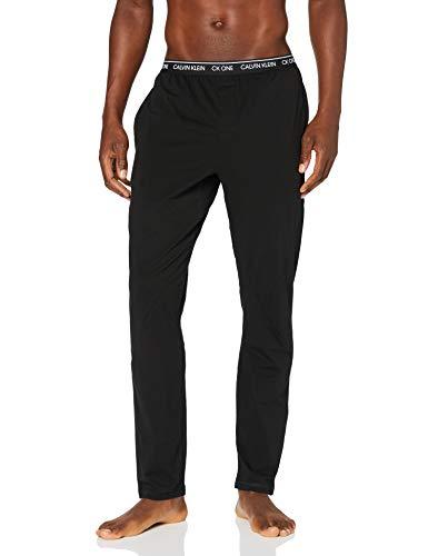 Calvin Klein Sleep Pant Pantalones de Pijama, Negro (Black 001), L para Hombre