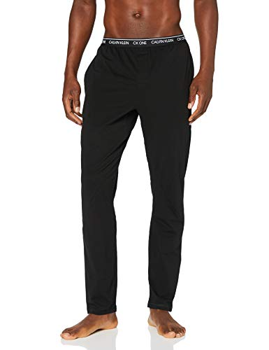 Calvin Klein Sleep Pant Pantalones de Pijama, Negro (Black 001), M para Hombre