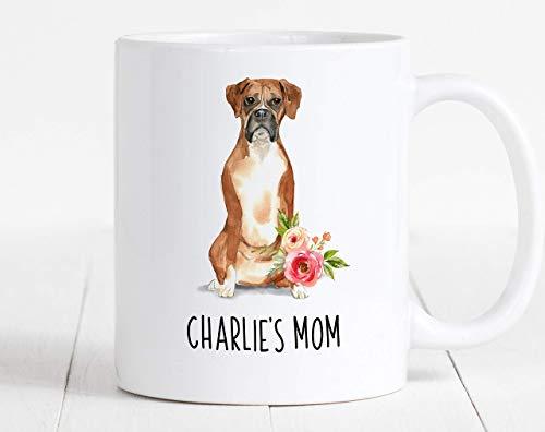 Coffee Mug, Custom Boxer Mug, Personalized Dog Mug, Gift for Dog Mom,...