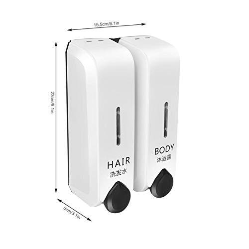 Voluxe Máquina de Lavado a Mano con Espuma, práctico y Hermoso dispensador de jabón, Botella de loción, Botella de baño para baño, hogar, baño, Hotel