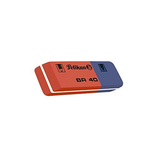 Pelikan BR 40 Rosso Blu, Gomma per Cancellare, Sacchetto da 4 Pezzi