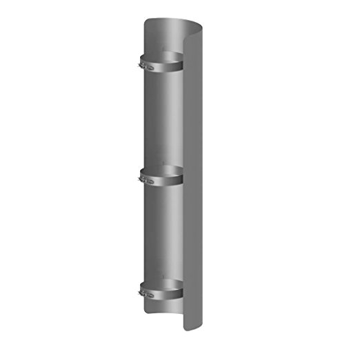 Ø 130 mm Ofenrohr Strahlungsschutz 100 cm Gussgrau