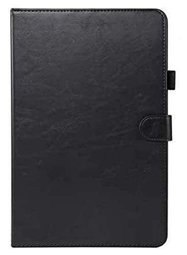 XXY Accesorios De Pestañas para Huawei MediApad T5 10 AGS2-W09 / L09 / L03 / W19 10.1', Conexión Inteligente De Cuero De Lujo para Huawei T5 10.1 Cubierta + Película (Color : Black)