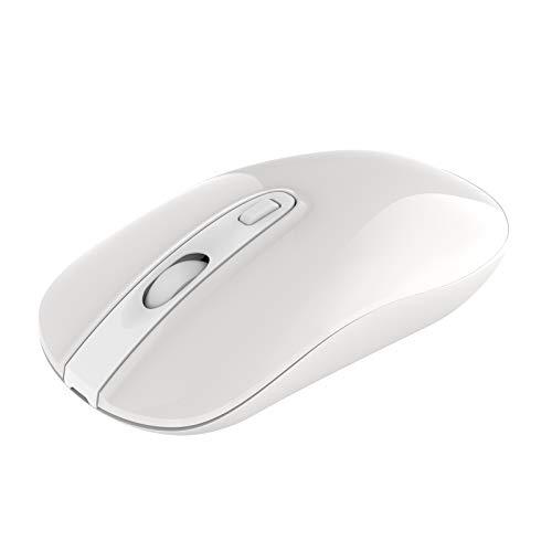 cimetech Mouse Senza Fili Bluetooth 2.4 GHz con Nano Ricevitore,2400 DPI con 3 Livelli Regolabile, Mouse Ottico per Laptop/Tablet/PC/Windows