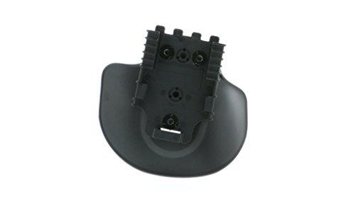 Safariland 568BL Injection Molded Flexible Paddle W/Qls 22 Receiver, Plain Black, Right Hand Plain Black Finish