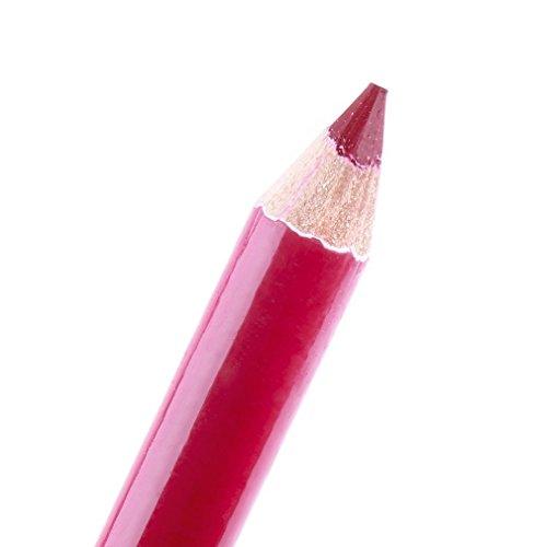 Lumanuby 12X Imperméable à l'eau Maquillage Professionnel Féminin Crayon a Levres Lip Liner-Rouge