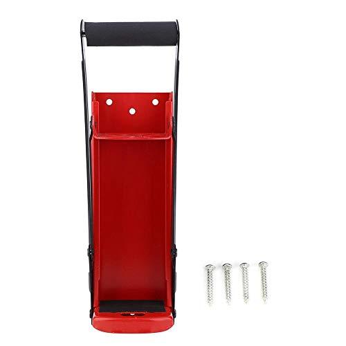 500 ml può Frantoio, Strumento di Riciclaggio delle Bottiglie di Plastica con Manico in Gomma in Acciaio Rosso con Apri