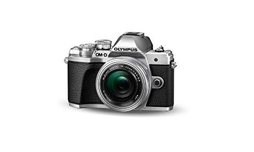 Olympus OM-D E-M10 Mark III Kit, Fotocamera di Sistema Micro Quattro Terzi 16 MP, Stabilizzatore d'Immagine a 5 Assi, Mirino Elettronico e Obiettivo EZ M.Zuiko 14-42mm EZ Zoom, Argento