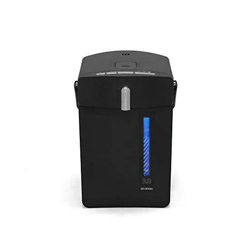 アイリスオーヤマ マイコン電気ポット 3.0L ジャーポット 保温機能 マグネットコード ブラック IAHD-030-B