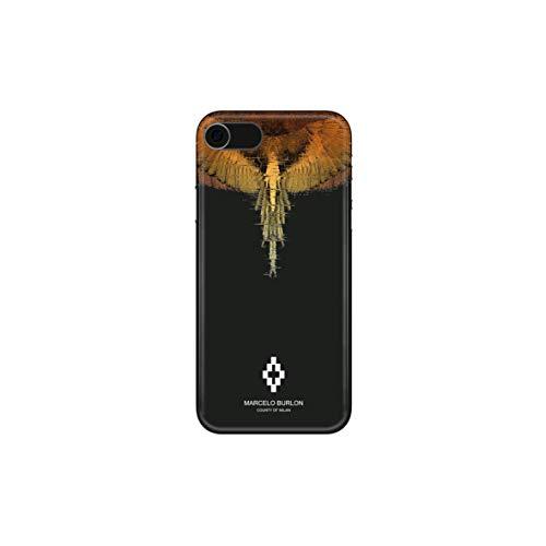 MARCELO BURLON COUNTY OF MILAN Cover/Custodia Compatibile con iPhone 8/7/6s/6 - MOD. Glitch - Custodia Burlon Originale - Rigida - Finitura Soft Touch - Protezione Frontale rialzata