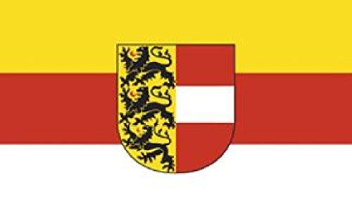 Flagge/Fahne KÄRNTEN mit Wappen Staatsflagge/Landesflagge/Hissflagge mit Ösen 150x90 cm, gute Qualität