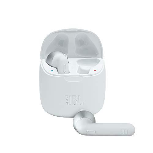 JBL Tune 225 TWS Lifestyle Bluetooth Kopfhörer in Weiß – Kabellose Sport Ohrhörer für bis zu 5 Stunden Musikgenuss mit nur einer Akku-Ladung – Inkl. Ladecase