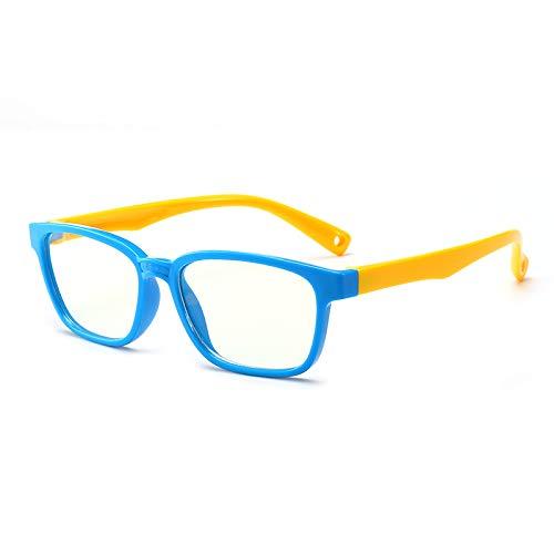 Anteojos de Bloqueo de Luz Azul para Niños,Gafas de Silicona con Marco blando,Disponible en Tabletas, Ordenadores, Teléfonos Móviles...