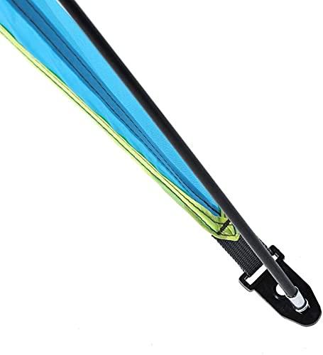 LXNQG La Columna Vertebral de Fibra de Vidrio Proporciona una Tienda de sombrillas compactas de campaña Fuerte fácil de Transportar, Camping al Aire Libre (Azul, Doble) (Color : Double)