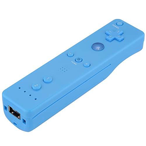Controlador de Mango de Juego para Wii, Gamepad con Joystick analógico, función de detección triaxial, para Consola WiiU/Wii(Azul)