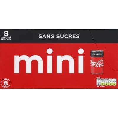 Coca Cola Coca-cola zero boite 15clx8 mini frigo pack - Les 8 mini canettes de 15cl