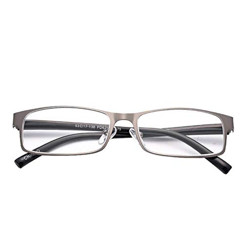 High-end zakelijke leesbril Heren roestvrijstalen bril 1,75 + 3,25 graden # 11,1.25, pistoolkleur