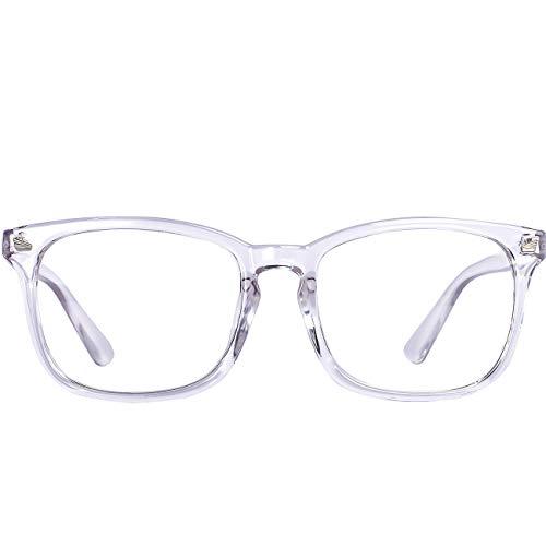 Maxjuli Blue Light Blocking Glasses,Computer Reading/Gaming/TV/Phones Glasses for Women Men(Transparent)