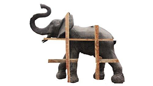 Steinfigur Elefant groß, Tierfigur aus Steinguss, Wasserspeier