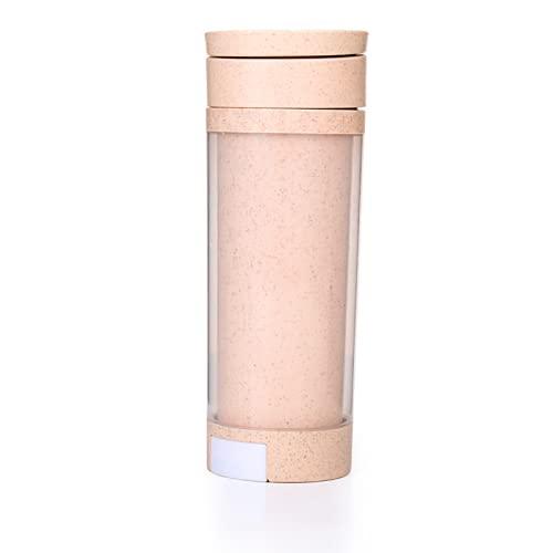 YIXINYOUPIN Taza de agua, botella de agua con pajita, botella de agua ecológica, botella deportiva de plástico no tóxico Tritan sin Bpa, adecuada para fitness, gimnasio, senderismo amarillo