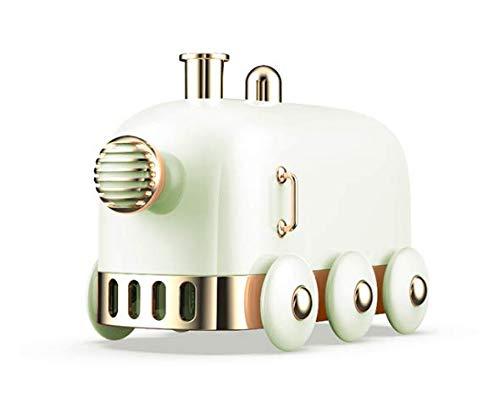 pequeño tren humidificador USB con una lámpara de noche se puede utilizar tanto en la oficina como en casa (verde)